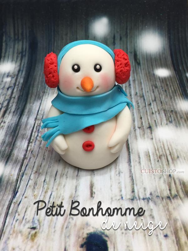 Modelage bonhomme de neige en p te sucre - Modele bonhomme de neige ...