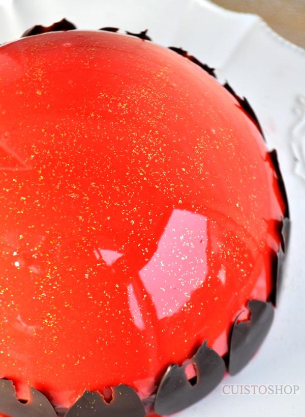 Bombe au chocolat pralin gla age miroir for Glacage miroir rouge