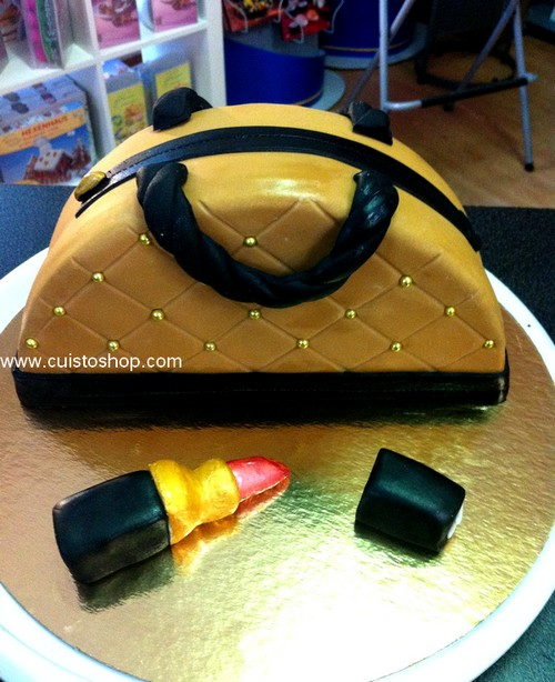 Gateau Sac A Main 3d Decor Pate A Sucre