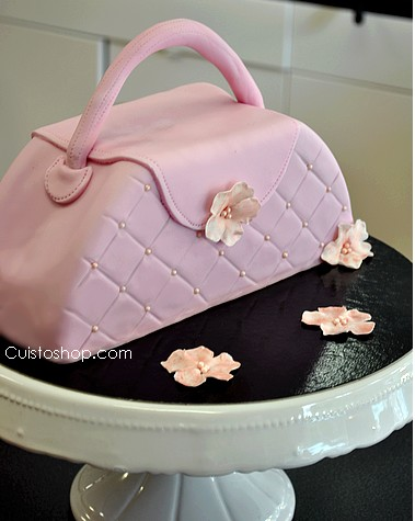 gâteau sac à main pâte à sucre