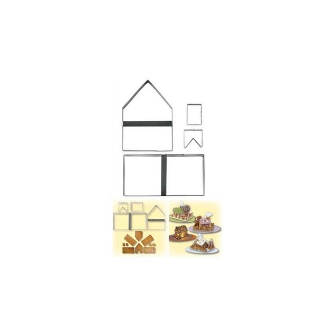 no l hiver d coupoirs no l 4 emporte pi ce maison 3d gingerbread house cuistoshop. Black Bedroom Furniture Sets. Home Design Ideas
