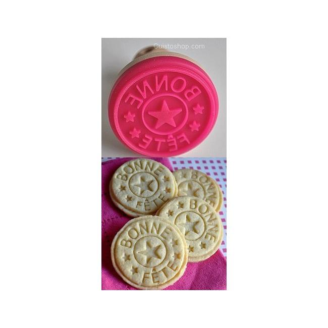 Moules cercles caissettes moules et c tampon biscuit bonne f te en silicone cuistoshop - Tampon cuisine personnalise ...