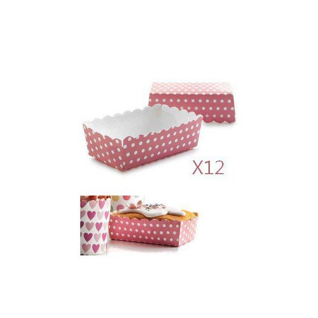 moules cercles caissettes caissettes et moules en papier 12 caissettes rectangulaires. Black Bedroom Furniture Sets. Home Design Ideas