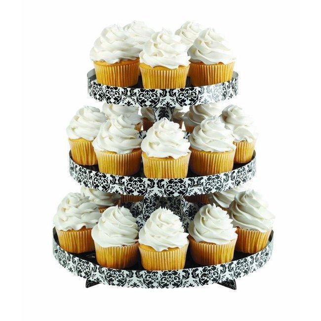 sweet table pr sentoirs stand pr sentoir cupcakes 3 tages en carton cuistoshop. Black Bedroom Furniture Sets. Home Design Ideas