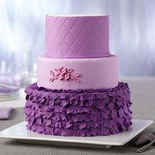 Simple Triple Layer Purple Cake