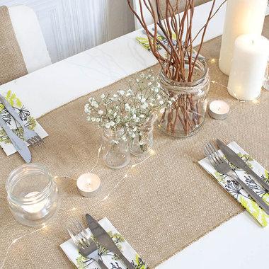 No l hiver d coration sweet table chemin de table - Chemin de table etoile ...