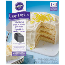 Kit de 4 Moules à Layer Cake carrés