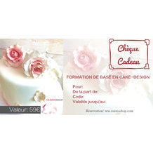"Carte cadeau ""Formation de base cake-design"""