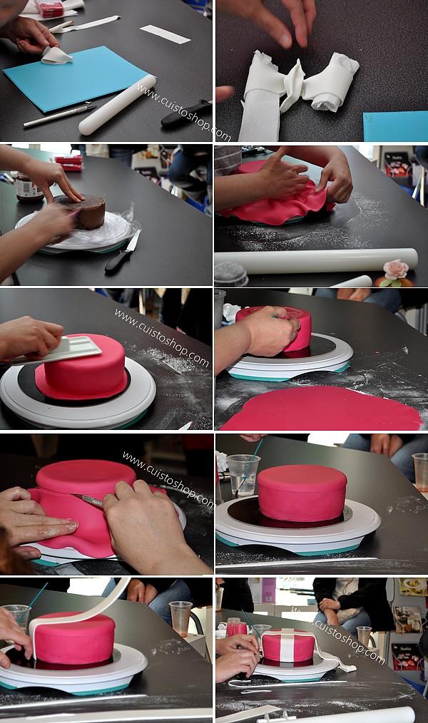 Comment faire un sac a main en pate a sucre norma bunch blog - Comment decorer un gateau avec pate a sucre ...