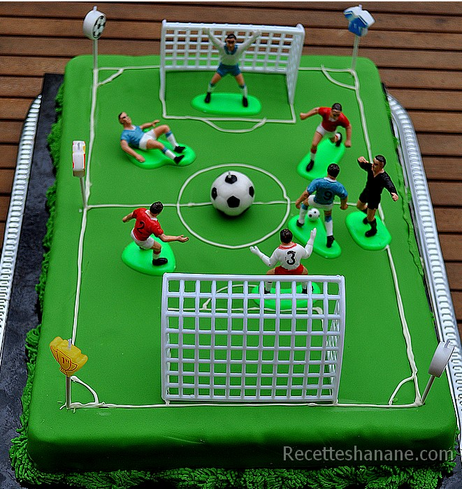 Gâteau football - match de foot