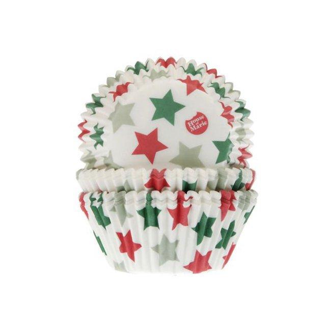 Cake Design Pate A Sucre 50 Grandes Caissettes Etoiles Noel