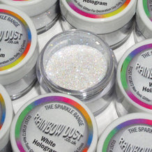 Paillettes BLANCHES HOLOGRAM - non toxic