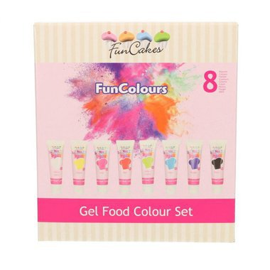 Boite de 8 colorants en gel FUNCAKES