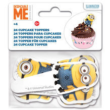 24 toppers Minions pour cupcakes et muffins