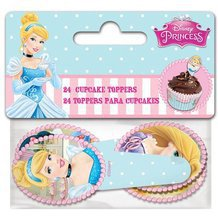 24 toppers princesses Disney pour cupcakes et muffins.