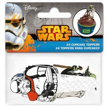24 toppers Star Wars pour cupcakes et muffins.