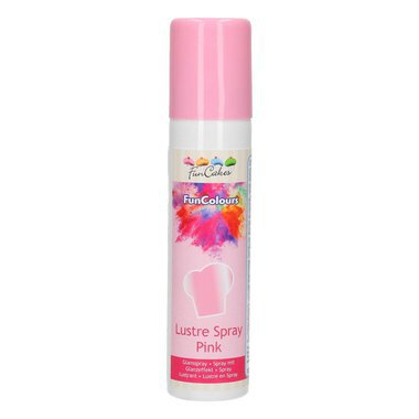SPRAY LUSTRANT ALIMENTAIRE  - ROSE  -  FUNCOLOURS