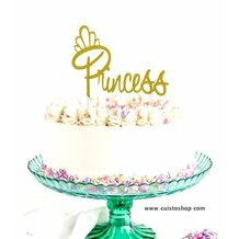 Topper Princess (couleur or)
