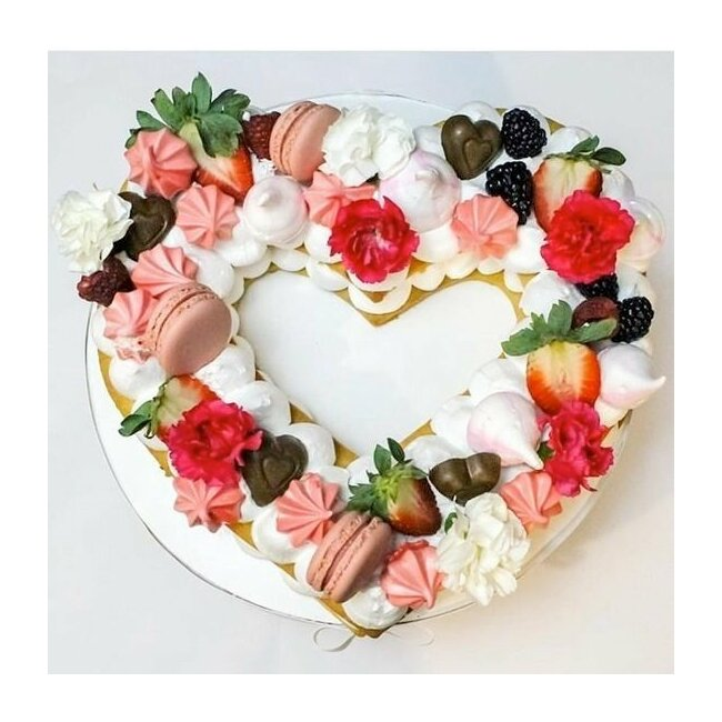 "Gabarit pour number Cake ""Coeur"" grand"